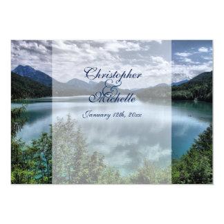 "Beautiful Mountain Lake Wedding 5"" X 7"" Invitation Card"