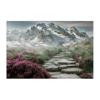 Beautiful mountain landscape acrylic wall art