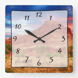 Beautiful Mountains Canyon View Clock