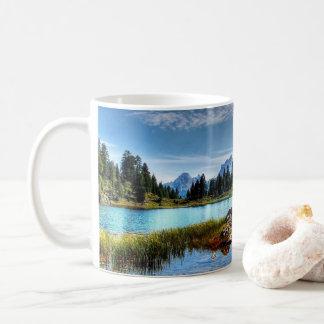 Beautiful Mountains Lake Scene Coffee Mug