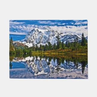 Beautiful Mountains - Picture Lake - Mount Shuksan Doormat