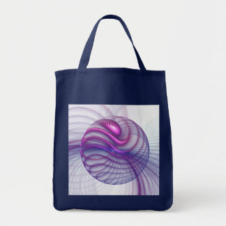 Beautiful Movements Abstract Fractal Art Pink Tote Bag