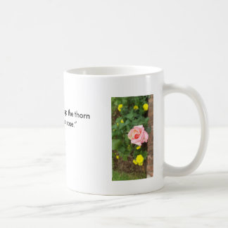 Beautiful Mug with Quote for Rose Lovers