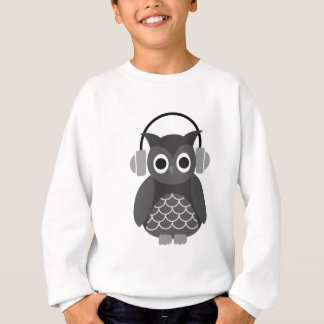 Beautiful Music Listning Owl Sweatshirt