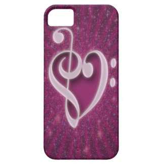 Beautiful music notes put together as heart shape iPhone 5 covers