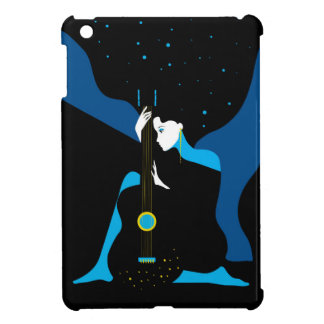 Beautiful musician girl with a guitar. Art deco Case For The iPad Mini
