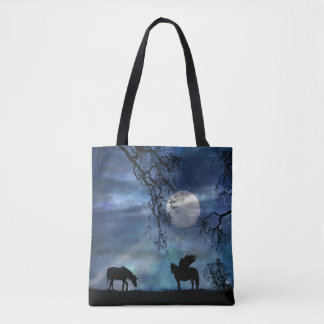Beautiful Mystical Unicorn and Pegasus Tote Bag