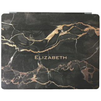 Beautiful Name and Black Marble iPad Cover