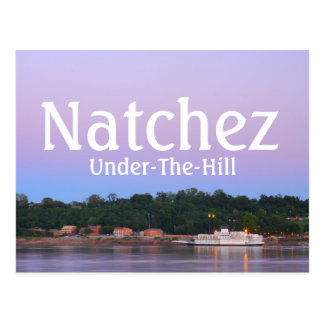 Beautiful Natchez, MS Under The Hill Postcard
