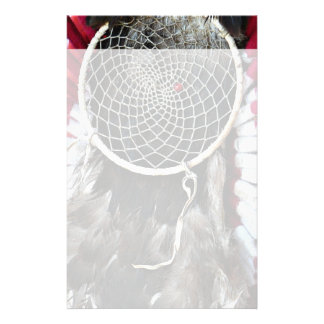 Beautiful Native American Dream Catcher Red Blue Stationery