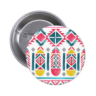 Beautiful Native American Geometric Pattern 2 Inch Round Button