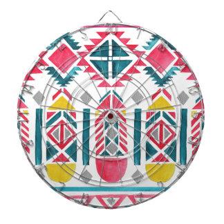 Beautiful Native American Geometric Pattern Dartboards