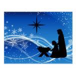 Beautiful Nativity Scene Christmas Postcard
