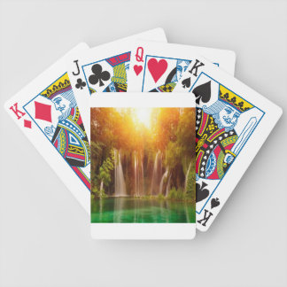 Beautiful nature landscape design bicycle playing cards