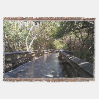 Beautiful Nature Path Throw Blanket