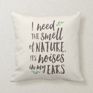 Beautiful Nature Typography Throw Pillow