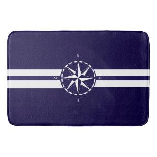 Beautiful Nautical Compass Blue Nautical Theme Bathroom Mat