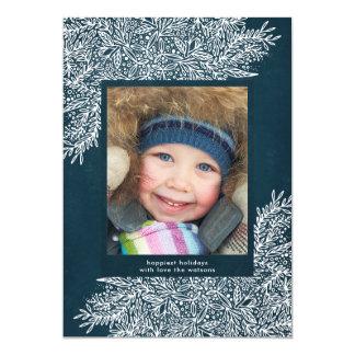 Beautiful Navy Christmas Holiday Photo Card