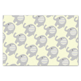 Beautiful Neutral Baby Shower Custom Elephant Tissue Paper