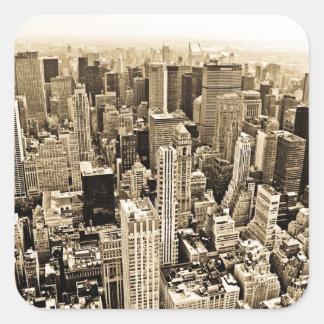 Beautiful New York City Square Sticker