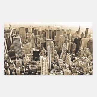 Beautiful New York City Rectangular Stickers