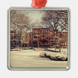 Beautiful New York Winter Metal Ornament