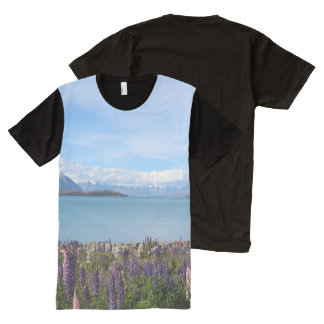 Beautiful New Zealand Lake Tekapo All Over Tshirt