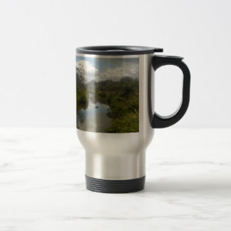 Beautiful New Zealand Landscape. Quiet, reflective Travel Mug