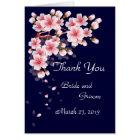 Beautiful Night Sakura Thank You card