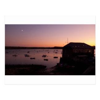 Beautiful night shot in Rock in Cornwall Postcard