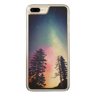 Beautiful night sky shining up to the heavens carved iPhone 7 plus case