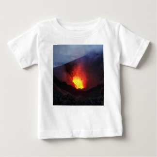 Beautiful night volcanic eruption baby T-Shirt