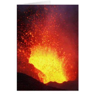 Beautiful night volcanic eruption card