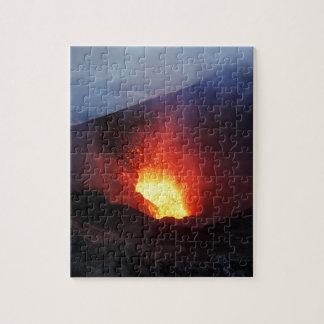 Beautiful night volcanic eruption jigsaw puzzle