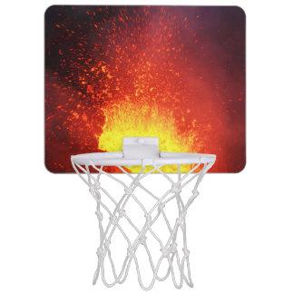 Beautiful night volcanic eruption mini basketball hoop
