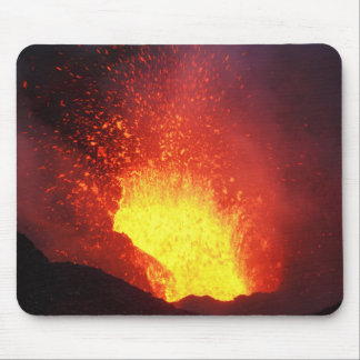 Beautiful night volcanic eruption mouse pad