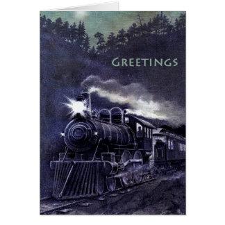 Beautiful Nighttime Train All-Occasion Notecard