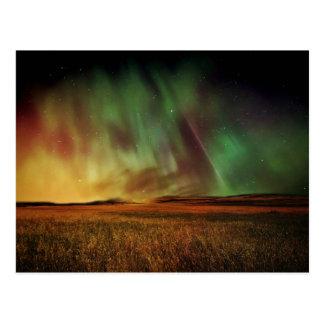 Beautiful northern lights postcard
