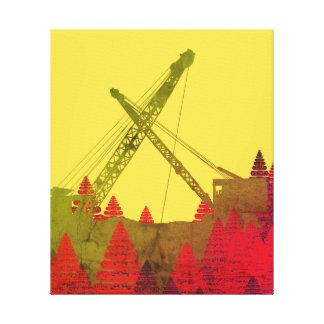 Beautiful Northwest Crane Operating Engineer Art Canvas Print