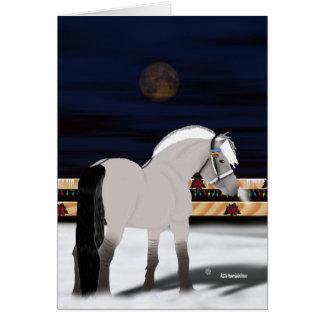 Beautiful Norwegian Fjord Horse Card
