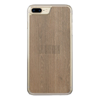 Beautiful Oak Wood Pattern Monogram Carved iPhone 8 Plus/7 Plus Case