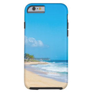 Beautiful ocean beach, gentle waves, blue skies tough iPhone 6 case
