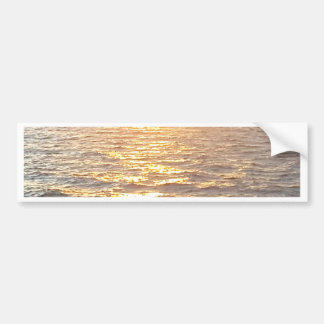 Beautiful Ocean Golden Hour Sunrise Bumper Sticker