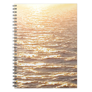 Beautiful Ocean Golden Hour Sunrise Notebook