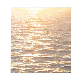 Beautiful Ocean Golden Hour Sunrise Notepad