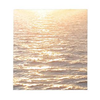 Beautiful Ocean Golden Hour Sunrise Notepads