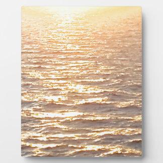 Beautiful Ocean Golden Hour Sunrise Plaque