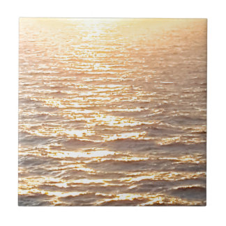 Beautiful Ocean Golden Hour Sunrise Tile