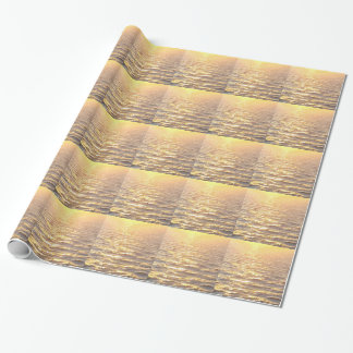 Beautiful Ocean Golden Hour Sunrise Wrapping Paper