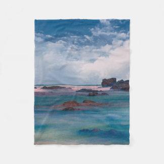 Beautiful Ocean Scenic View Landscape Blanket